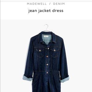 Madewell Jean Jacket Dress, Size L